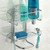 InterDesign Classico Suction Shower Shelves, Chrome