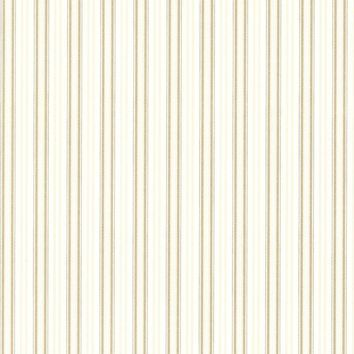 Brewster Wallpaper 2668-21519 Anne Gold Ticking Stripe