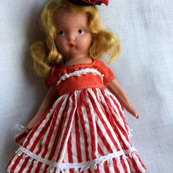 NASB Alice Sweet Alice #122—Vintage Bisque Storybook Doll, Stiff Legs—Little Girl Mold