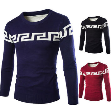 Mens Fashionable Patterned Sweater