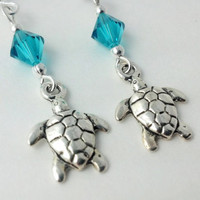 Sea Turtle Earrings, Beach Earrings, Animal Earrings