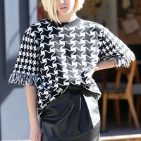 Penelope Houndstooth Pullover - Tops - Clothing Discover the latest fashion trends online at storets.com