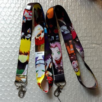 Naruto Sasauke ninja  Mixed Key Chains 50 pcs  Cell Phone MP3 Strap Lanyards NECK Lanyard Charm A-K126 AT_81_8
