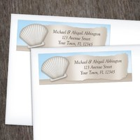 Seashell in the Sand Beach Address Labels