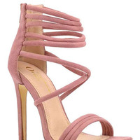 Step Aside Suede Strappy Heel