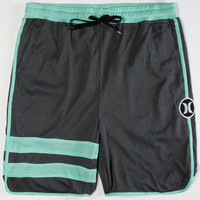 Hurley Dri-Fit Block Party Mens Volley Shorts Charcoal  In Sizes