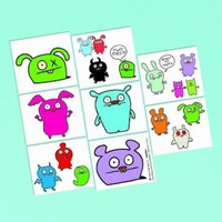 """Amscan 209947 8.25"""" UGLYDOLL Tattoo Sheet with Material Paper"""