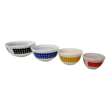 Pre-owned Pyrex Dots Mixing Bowls - Set of 4
