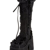 Camel 311 Black Knee High Boots : Demonia GoGo Boots from Raveready!