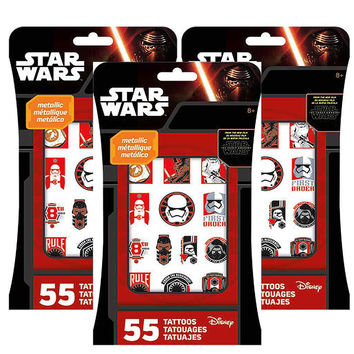 Star Wars Metallic Tattoos [3 Packs - 165 Tattoos Ea]