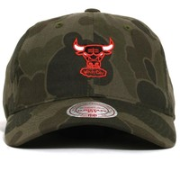 Chicago Bulls Camo Slouch Strapback Hat Military Green