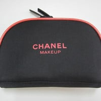 CHANEL MAKEUP Black Makeup Bag / Cosmetic Pouch / Clutch / iPhone Case