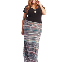 Mixed Stripe Super Soft Maxi Skirt | Wet Seal