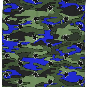 Camo Stars Shower Curtain