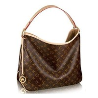 Fashion Louis Vuitton Monogram Canvas Delightful Pm Handbag Article:m50154 Made In France
