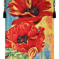 2 Poppys Tapestry Wall Hanging