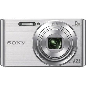Sony - DSC-W830 20.1-Megapixel Digital Camera - Silver