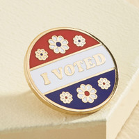 Ballots and Composure Pin | Mod Retro Vintage Pins | ModCloth.com