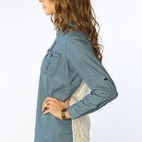 The Darling Top in Blue Chambray