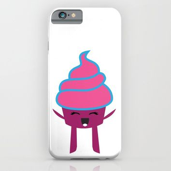 CUTE JOYFUL CUPCAKE iPhone & iPod Case by deificus Art