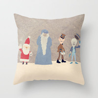 Claymation Lineup  Throw Pillow by Robert Scheribel | Society6