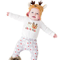 Cute Newborn Baby Boys Girls Christmas Romper Jumpsuit Outfit Clothes Sets S20