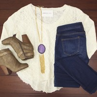 Torn Away Sweater $35.00