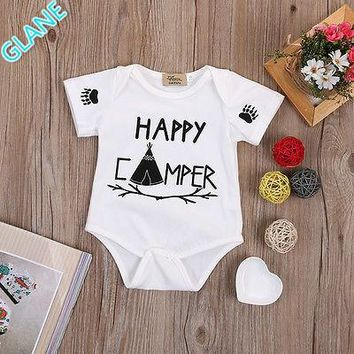 New Unisex Kids Baby Clothes Lovely Cute Letter Short Sleeve One-Piece Romper Jumpsuit Outfits One-pieces Casual Creepers