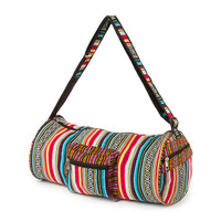 Festival Yarn Dye Tribal Print Duffle Bag