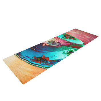 "alyZen Moonshadow ""Mad Hatters T-Party VI"" Teal Pink Yoga Mat"