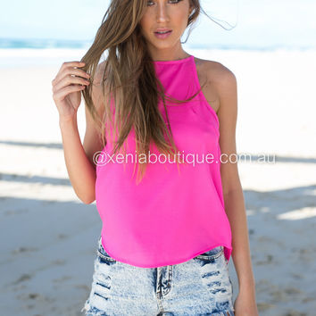 Julia Claire Basic Top (Pink)
