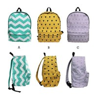 ZLCY Original Geometry Flash Wave Backpack (C)