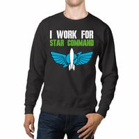 Disney I Work For Star Command Buzz Lightyear Unisex Sweaters - 54R Sweater