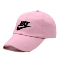 Pink Embroidered 100% Cotton Adjustable Cap
