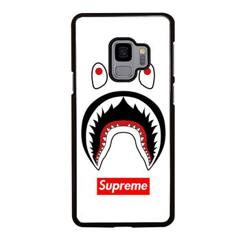 BAPE CAMO SHARK SUPREME WHITE Samsung Galaxy S4 S5 S6 S7 S8 S9 Edge Plus Note 3 4 5 8 Case Cover