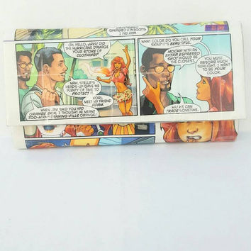 Starfire Wallet - Handmade Upcycled Comic Book Women's Wallet