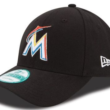 Mens MLB Miami Marlins The League New Era 9FORTY Adjustable Game Cap