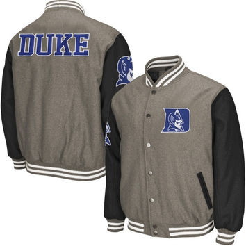 Duke Blue Devils Class Letterman Jacket – Gray