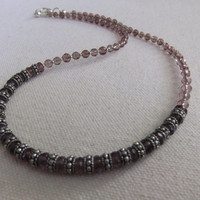 Amethyst Crystal and Silver Necklace