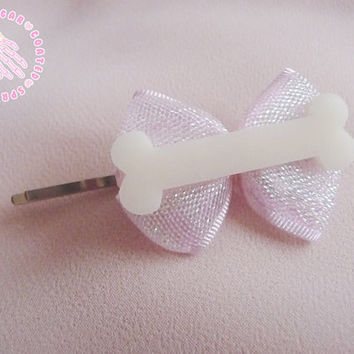 Pretty bone hair slide by SugarCoatedSprinkles on Etsy