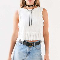 Kimchi Blue Asteria Peplum Cropped Top - Urban Outfitters