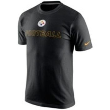DCCKG8Q NFL Pittsburgh Steelers Nike Black Training Day T-Shirt