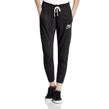 LMFON Nike' Women Sports Casual Letter Print Thin Knit Leisure Pants Trousers Sweatpants