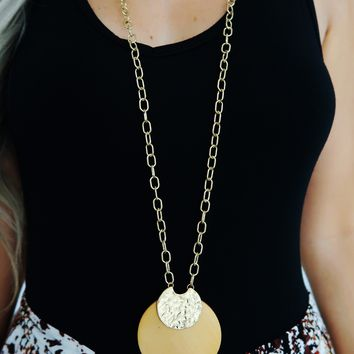 Love Again Necklace: Gold/Tan
