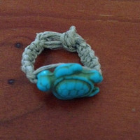 Blue Turtle Hemp Ring