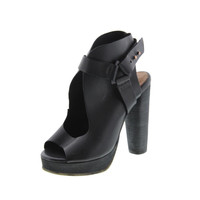 Diesel Womens Deep Sea Botia Leather Cut-Out Open-Toe Heels