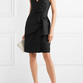 Victoria, Victoria Beckham - Tie-front cotton mini dress