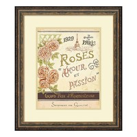 ''French Seed Packet I'' Floral Paris Framed Wall Art (Brown)