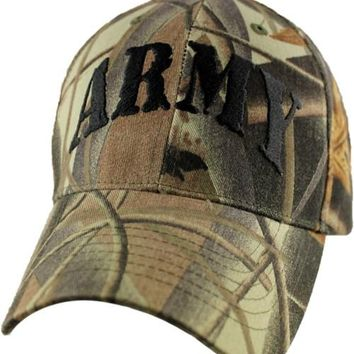 ARMY Realtree  - embroidered Low Profile Hat -Black-
