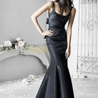 Beautiful Mermaid Trumpet Sash Taffeta Evening Dress